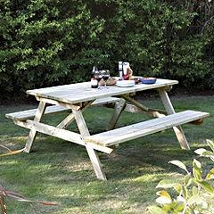 Rowlinson 1.5m Picnic Table - Garden tables - Garden furniture - Garden & DIY - Home & garden - Sainsbury's. GBP 99.