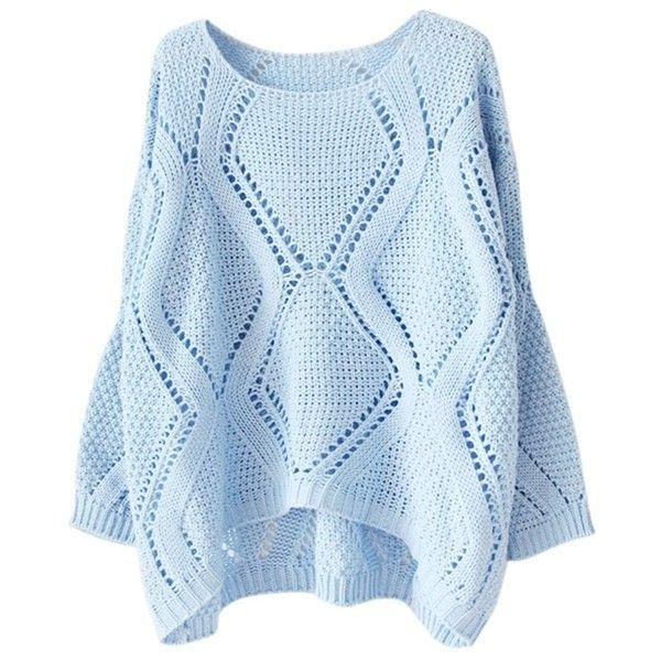 Best 25  Blue long sleeve tops ideas on Pinterest   Blue long ...