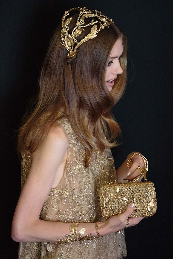 Elie Saab - Shades of Gold.  Autumn/Winter 2015 Haute Couture Collection.