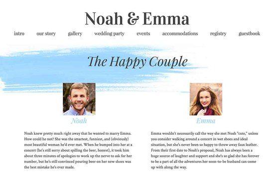 Best wedding website options