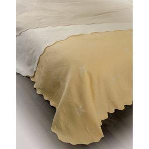 Couvre-lit piqué - 2 personnes - 220x260 - Blanc - Achat / Vente jetée de lit - boutis - Soldes * Cdiscount