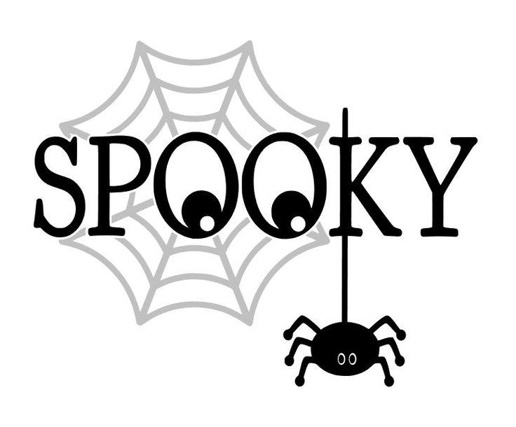 SPOOKY!!Halloween Poster,Halloween Card,Halloween Decor, Spiders,Web,Trick or…