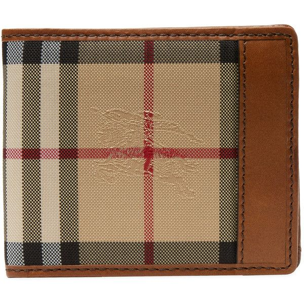 Burberry Men's Horseferry Check Bifold ID Wallet - Cream/Tan (€255) ❤ liked on Polyvore featuring men's fashion, men's bags, men's wallets, mens bifold leather wallet, mens bifold wallet, mens leather wallets, mens leather credit card holder wallet and mens credit card holder wallet