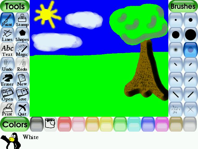 Tux Paint - Free computer art software for children. Simply awesome!
