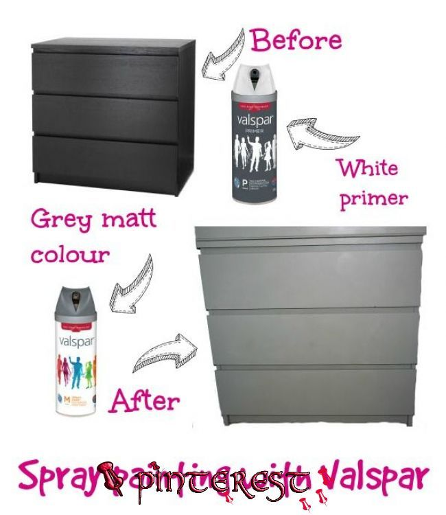 Spray Painting With Valspar In 2020 Painting Ikea Furniture
