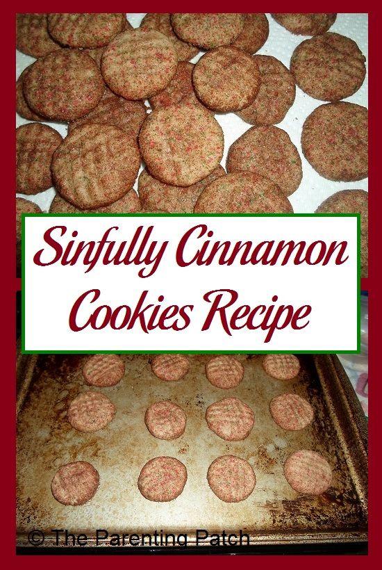 Recipe for cinnamon cookies using butter, milk, eggs, brown sugar, white sugar.