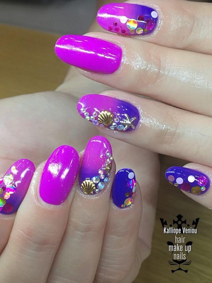 Summer nails  Όταν ο ήλιος......βασιλεύει και έρχεται γλυκιά η καλοκαιρινή.....νύχτα!!!  #nails #omrenails #summer #love #summertime #beauty #special #fashion #fashionista #nailaholic #nailsalon #nail2inspire #trusttheexperts #beautymakesyouhappy  www.kalliopeveniou.gr