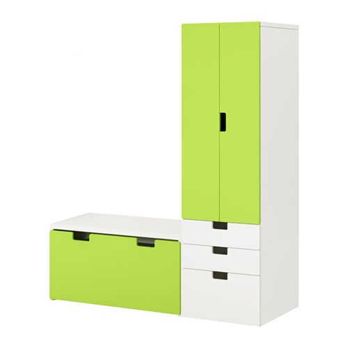"STUVA Storage combination with bench - white/green, 59x19 5/8x75 5/8 "" - IKEA"