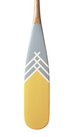 Artisan Painted Canoe Paddles from Norquay - DANDELION