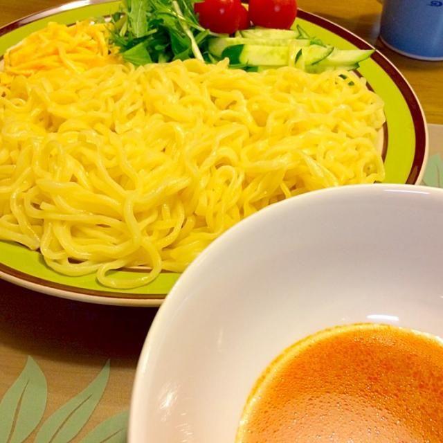 今日も暑かった〜(^^;; 冷やしつけ麺で夕食V(^_^)V ウマッ(≧∇≦) 2014.6.1 - 33件のもぐもぐ - たんたんつけ麺で夕食 by kazu347