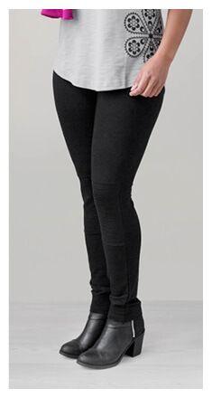 Damen-Leggings im Biker-Stil selber nähen ❤ kostenloses Schnittmuster ❤Gr. XS - XL ❤ PDF zum Ausdrucken ❤ Freebook ✂ Jetzt Nähtalente.de besuchen ✂