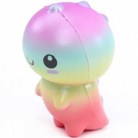 cute colorful rainbow dinosaur squishy kawaii