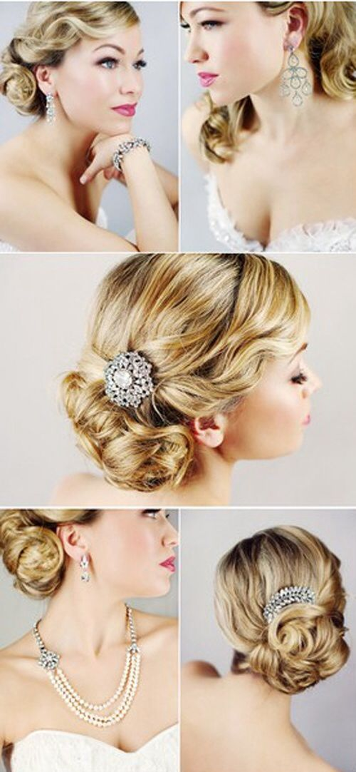 Glam wedding hair