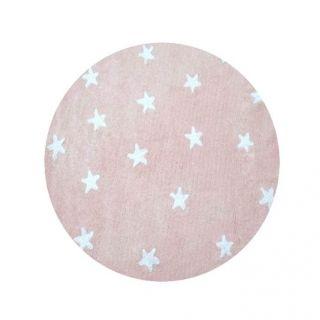 Teppich Washable Baumwolle Cielo rosa Ø 140 cm von Lorena Canals