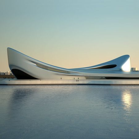 London practice Zaha Hadid Architects have designed two buildings for the city of Reggio Calabria in Italy.