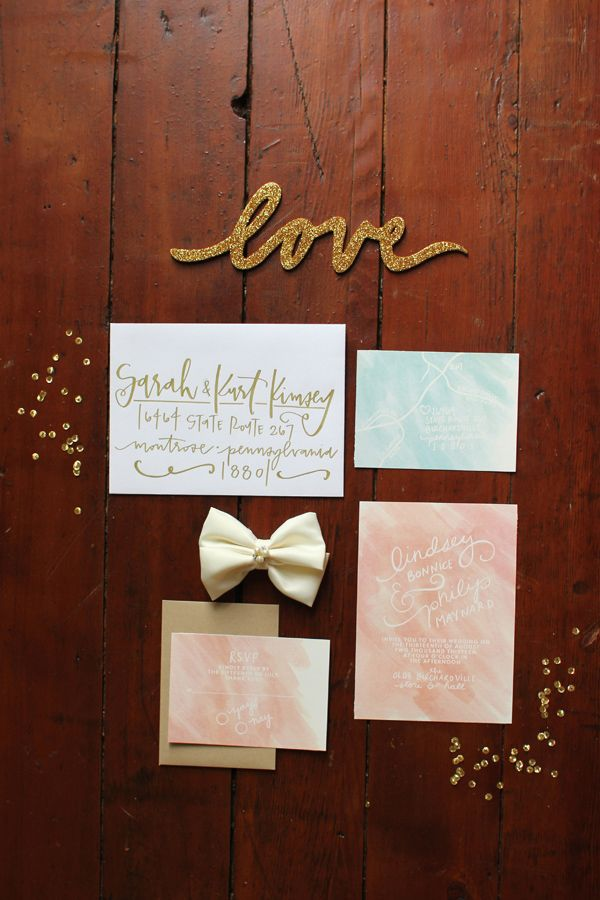 toronto wedding invitations%0A Coral  Mint and Gold Wedding Ideas