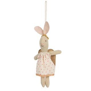 Maileg My Bunny Angel Adorable and whimsical these little bunny angels are a classic children's toys that will be treasured for a lifetime.  Great for little hands to hold the bunny and can be used as a toy or Christmas decoration on the tree or around the house. $29.95 #easter #bunny #gift