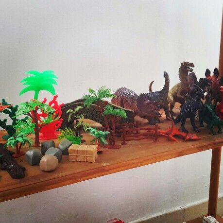 Figurines in my play therapy room.