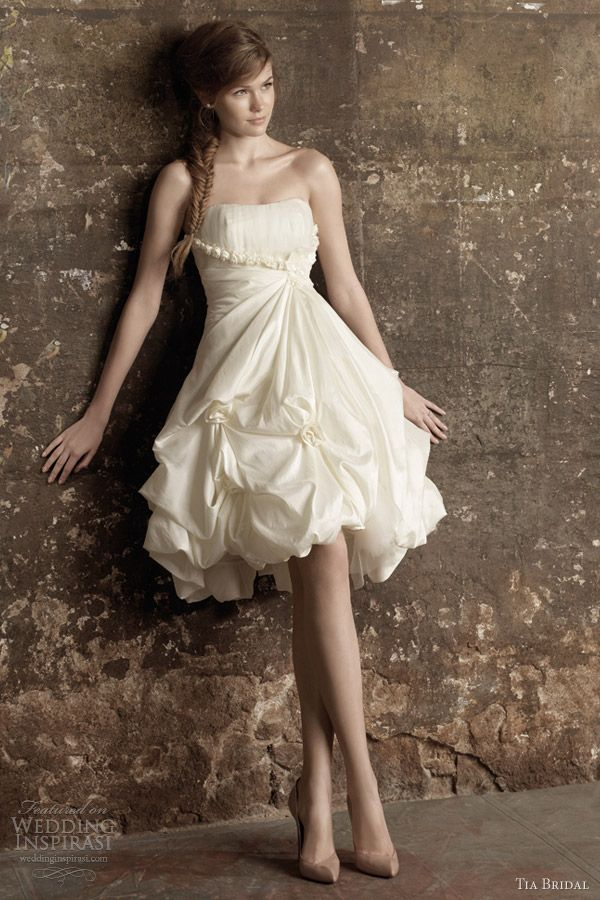 tia bridal benjamin roberts short wedding dress. Not a fan of short wedding dresses but cute for a final event! :)