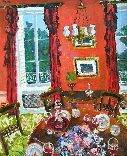 Art ~ John Pawle Dining Room, Chateau Latour 2010