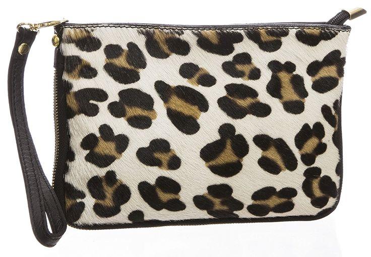 BHBS Femmes Fourrure Véritable Cuir Italien postal Fermeture Fête Soirée Embrayage épaule Sac à Main 20.5x15 cm (LxH) (Big Leopard): Amazon.fr: Chaussures et Sacs