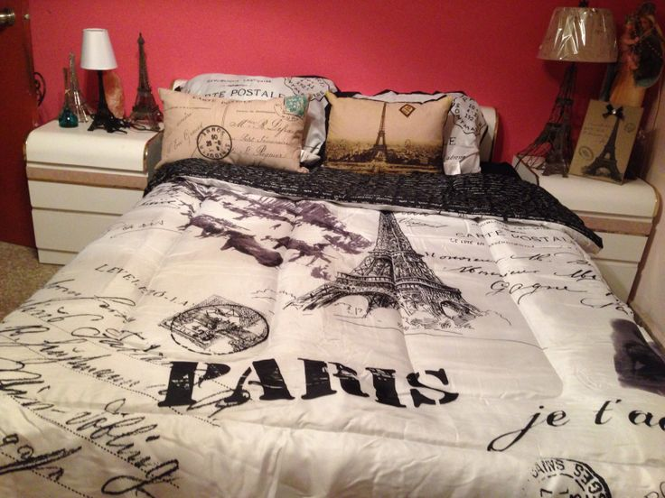 My room  3 Eiffel Tower decoration This is what my bed set will look like. 44 best Decoracion Eiffel Tower images on Pinterest