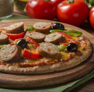 al fresco all natural Sweet Italian Chicken Sausage Pita Pizza
