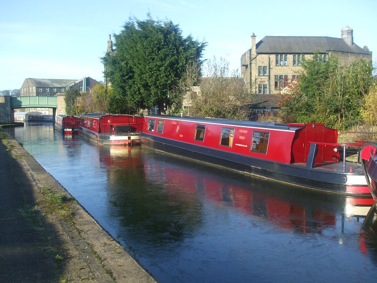 ice on canal at Silsden