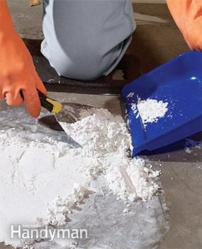 how to get stains out of cement