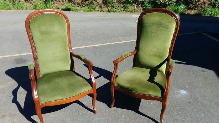 Achat de 2 chaises Voltaire (Le Bon Coin, 50€ le lot)