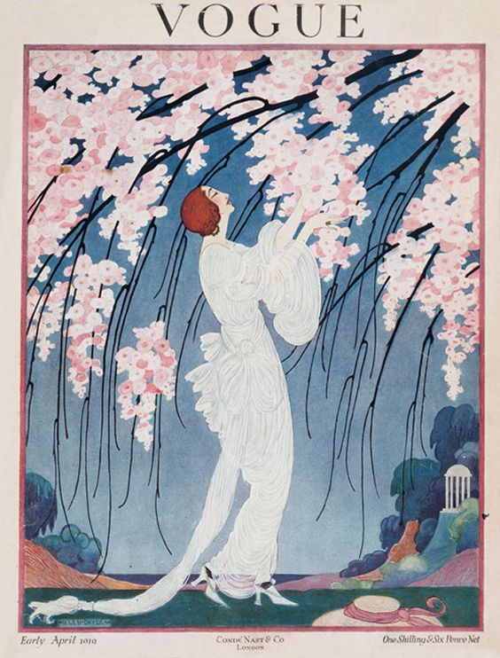 Elspeth Champcommunal editor of English Vogue from 1916 first issue .Helen Dryden illustration