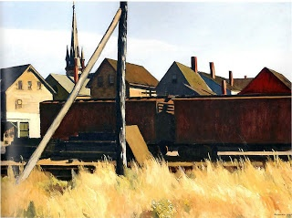 Freight cars, Edward Hopper
