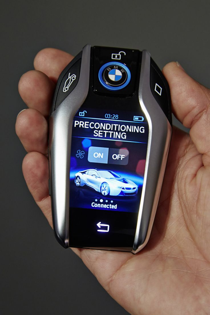 The new BMW Key fob with display. This has to be the most advanced car key out there!