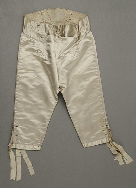 Breeches, 1804-1814, French, Made of silk and linen