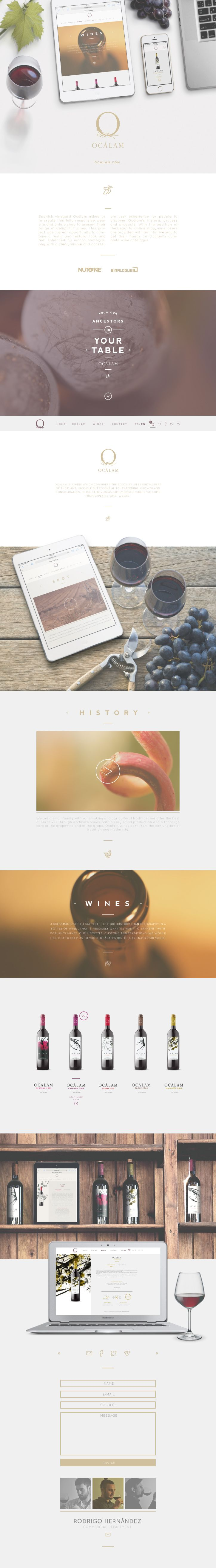 Spanish vineyard Ocalám website by nutone & binalogue