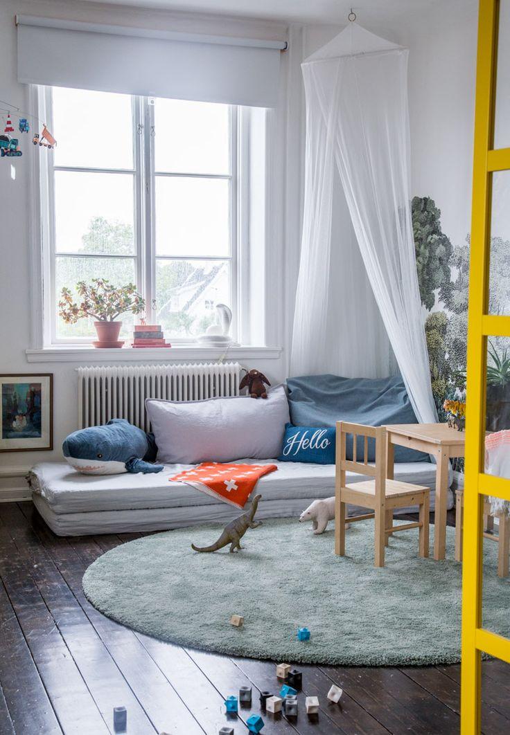 my scandinavian home: children's bedroom with a splash of colour:- Photo: Niki Brantmark. Styling: Tina Lekeberg.