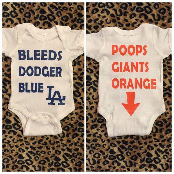 Funny Dodger Onesie Bleeds Dodger Blue by Motiv8teApparel30