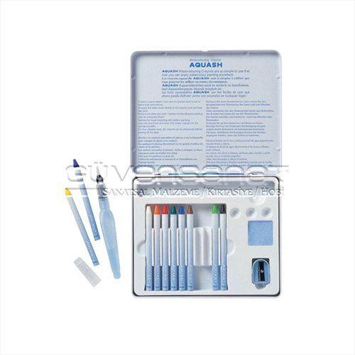 Pentel Aquash Boya Kalem Set 10 Renk + Fırça Uçlu Kalem