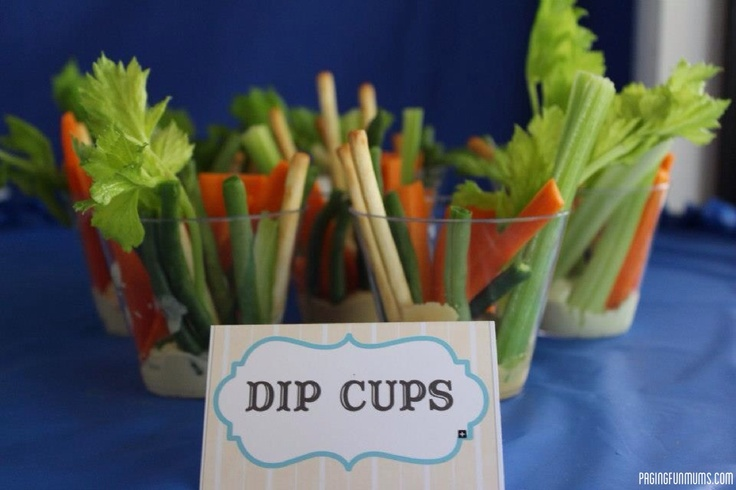 Perfect Kids Party Food! Individual Dip Cups = No double dipping!