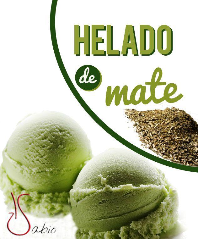 HELADO DE YERBA MATE, RECETA