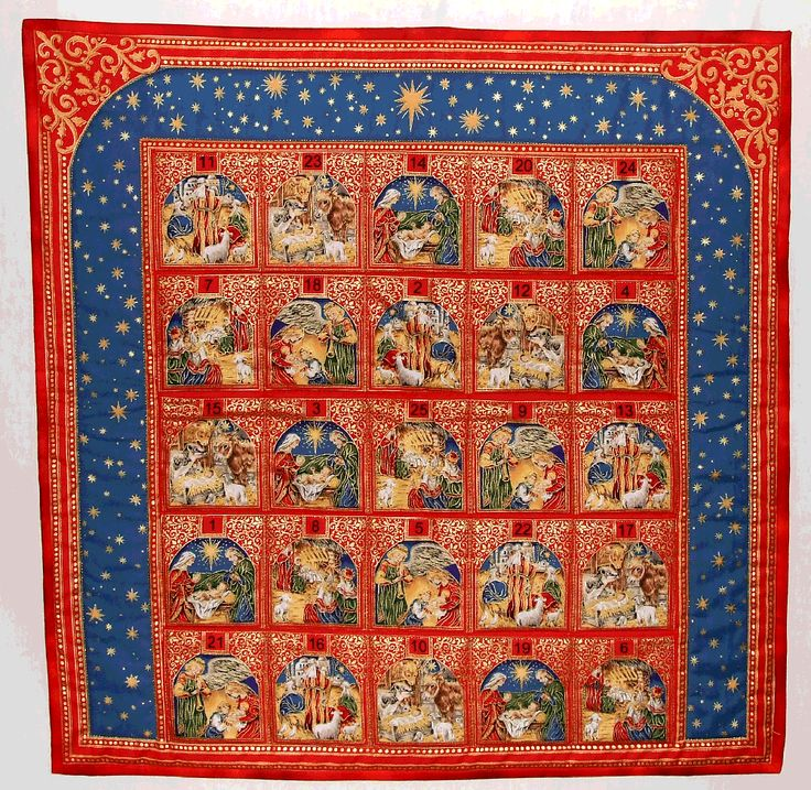 traditional advent calendar opened - Google Search