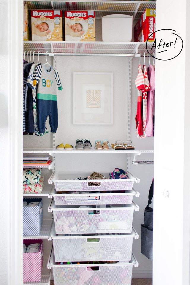 Marvelous Nursery Closet Organization   Jesse Coulter #elfa #closetorganization  #kidscloset #nursery #nurserycloset