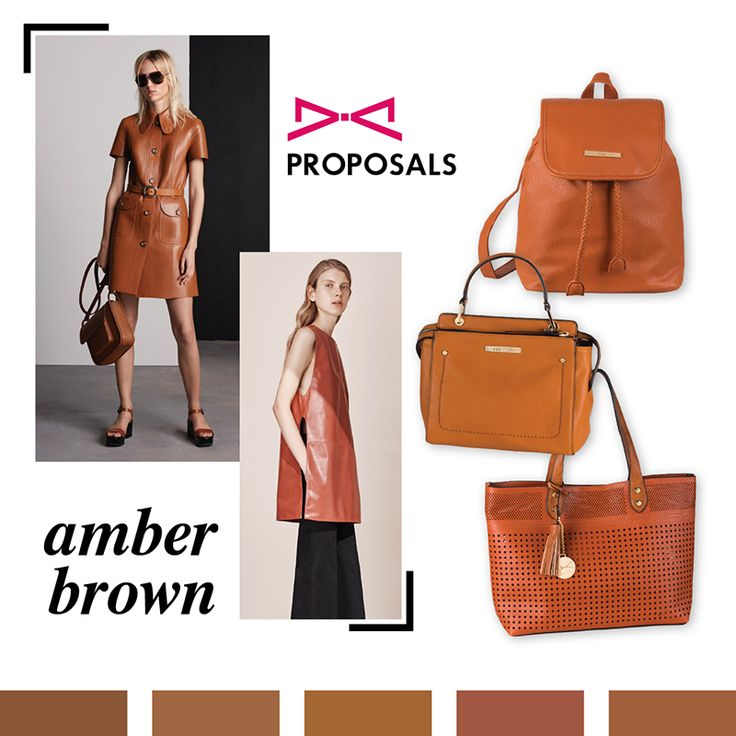 Amber brown is season's new black! Combined with navy or nude tones gives a chic touch to your style. #achilleas_accessories #elegance #chic #spring