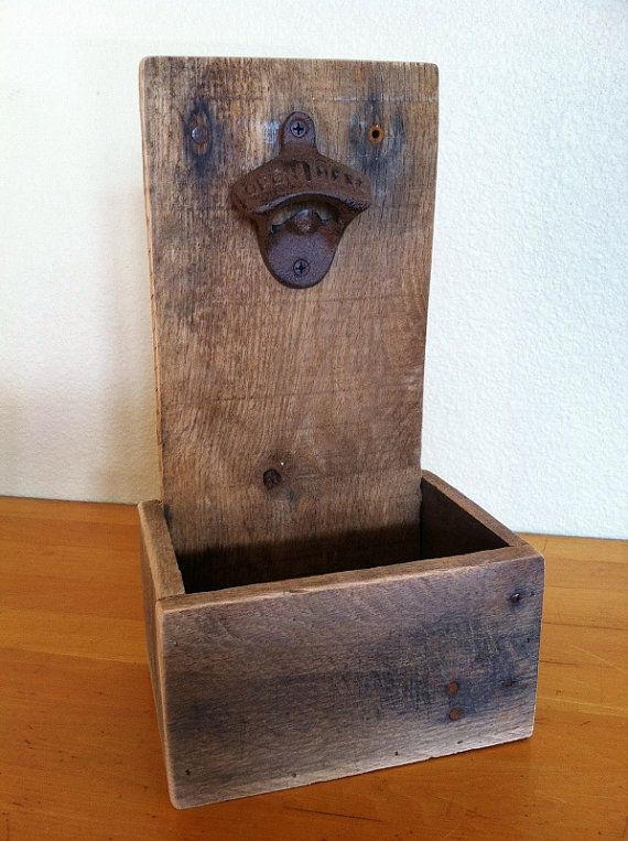 rustic cap catcher bottle opener reclaimed wood handmade caves awesome and wall boxes. Black Bedroom Furniture Sets. Home Design Ideas