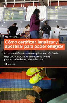 La siguiente información fue recopilada por Sofia Castillo en su blog Psincatarsis, es probable que algunos pasos o trámites hayan sido modificados.  #Venezuela #emigrar #certificar #apostillar #legalizar #viaje
