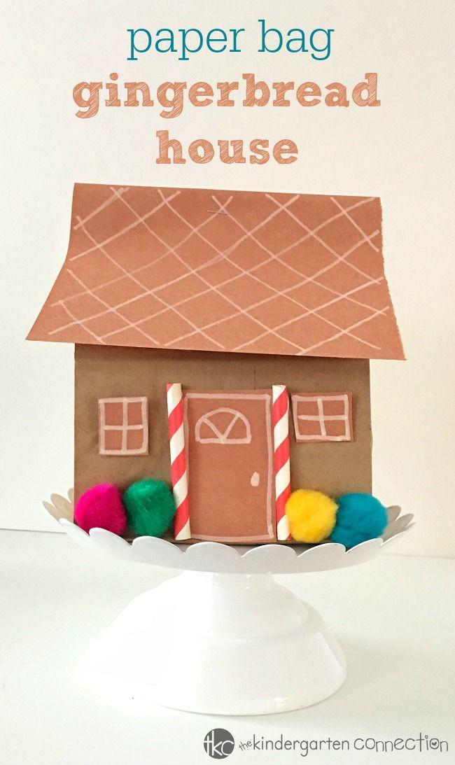 Paper Bag Gingerbread House Holiday Craft The Kindergarten
