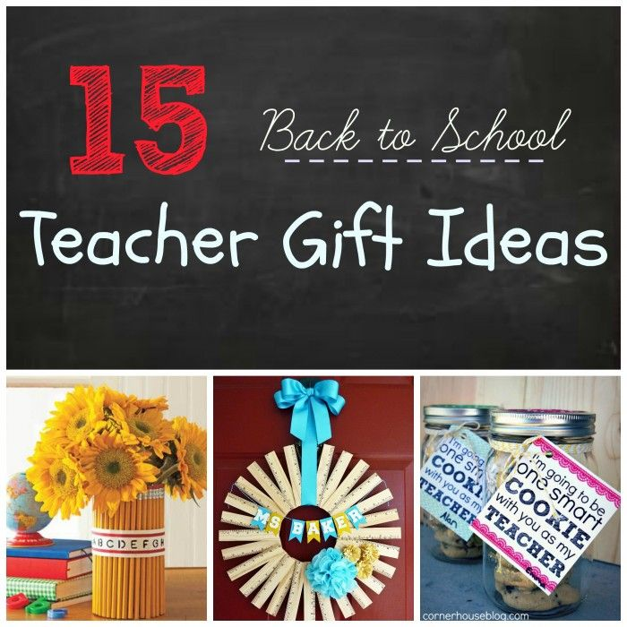 Start the year off right with these 20 Back to School Teacher Gift Ideas from Six SIsters Stuff