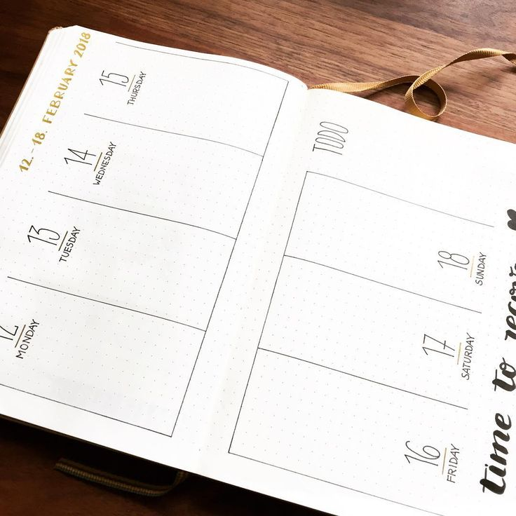 Bullet journal weekly layout, vertical dailies, minimalist daily headers, weekly task list. | @mylife.mylove.mypassion