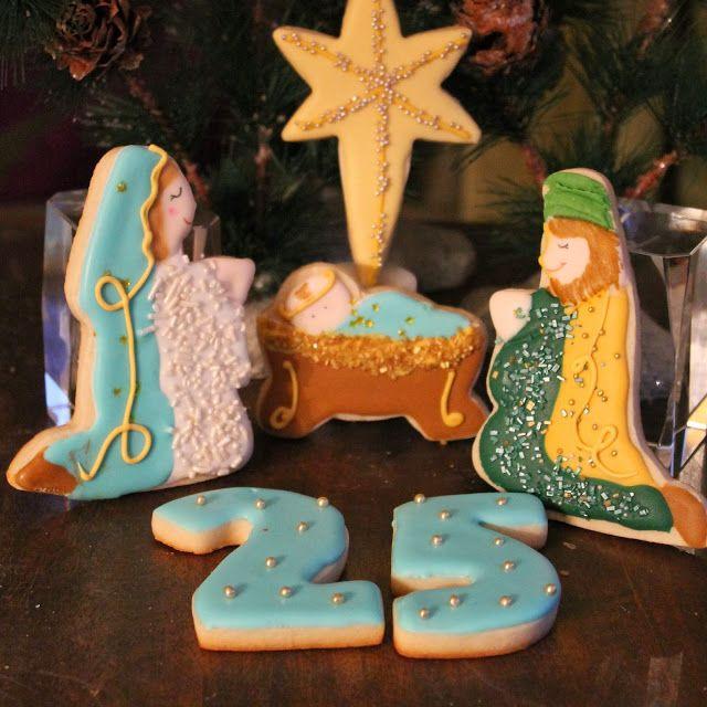 Galletas del Misterio de Navidad, que hacer cuando no tienes los cortadores adecuados./Nativity scene decorated cookies.