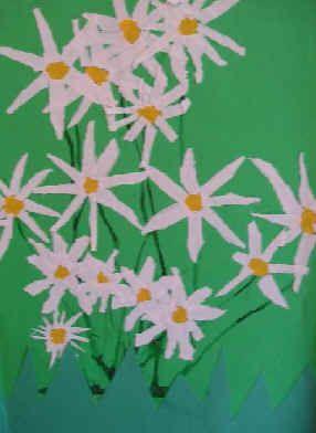Bloemen in het gras